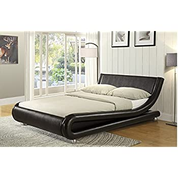 Enzo Italian Designer Faux Leather Double Bed Stunning