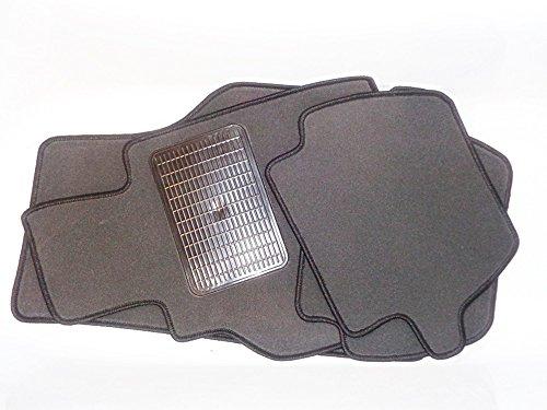 GRAU MIT SCHWARZEN RAND TYPISCH GRAU Fußmatten Passgenaue Velours Matten Textil Autoteppiche - GRAUSCHWARZ-KO-848 (Toyota Camry Fußmatten Schwarz)
