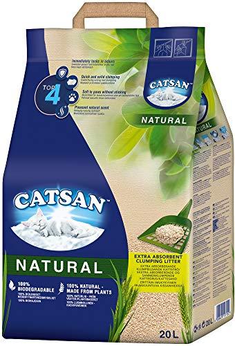 Catsan Katzenstreu Klumpstreu Natural, 1 Karton (1 x 20 L)