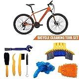 Juego de Herramientas de Limpieza para Bicicletas de 8 Piezas Herramienta de Cepillo de Limpieza multifunción precisas Que Incluye un Limpiador Cadenas para Bicicletas Mountain Mountain City BMX Bici