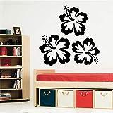 wukongsun Fleur Mignonne Vinyle Papier Peint Rouleau de Meubles décoration Chambre décoration Autocollant décoration de la Maison Noir XL 58 cm X 57 cm