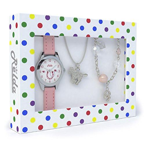 Relda Kids Horse Jewellery amp; Watch, Necklace amp; Bracelet Xmas Gift Set For Girls
