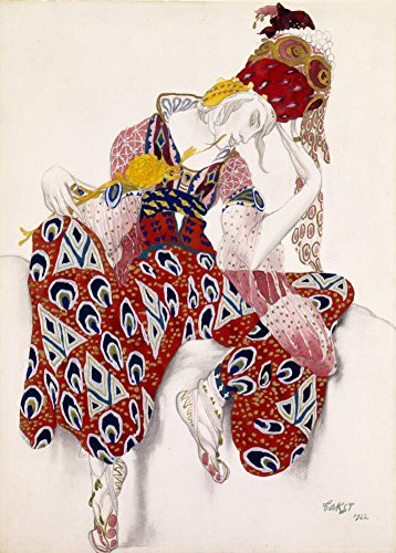 Vintage Ballett Leon Bakst Kostüm Design, 1922, 250gsm, Hochglanz, A3, vervielfältigtes Poster