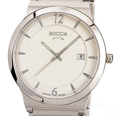 Boccia 3565-01 - Reloj analógico de cuarzo para hombre con correa de titanio, color plateado de Boccia