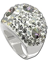 SilberDream Bagues - bague Glamour avec zircon blanc- taille 19 - Argent Sterling 925/1000 pour Femme - SDR014W9