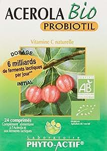 PHYTO ACTIF - Acérola Bio et Probiotil AB 24 Capsules