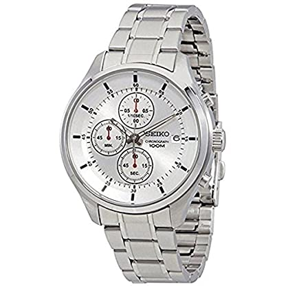 Seiko Analog White Dial Men's Watch-SKS535P1