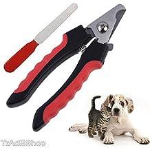 tradeshoptraesio®–Talla uñas cortauñas Tijeras para Perros Gatos Alicates Cortaúñas con lima Lima