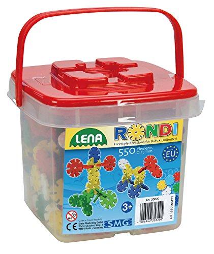 SIMM Spielwaren Lena 35820 - Bastelset Rondi 25 mm im Eimer mit 550 Stück