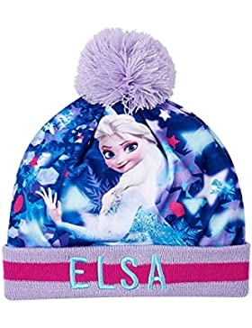 Disney Frozen - Il regno di ghiaccio Ragazze Berretto di lana - blu