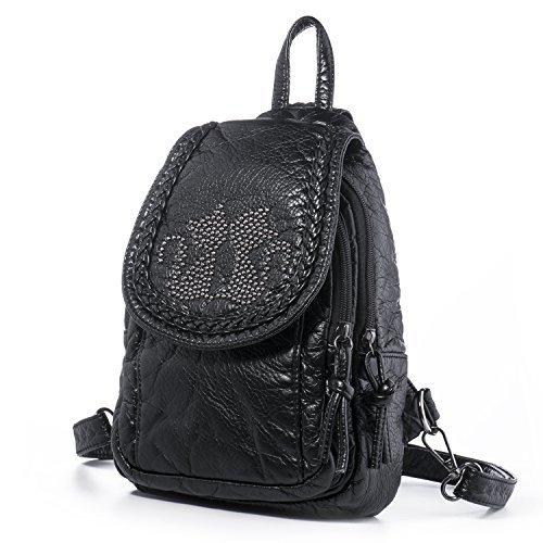 Katloo Mini Rucksack Handtaschen Damen Kleine Teen Mädchen Backpack für Schule PU Leder Rucksäcke Reiserucksack Wanderrucksack mit ÄNDE...