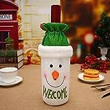 Junjie Rotweinflasche Cover Taschen Dekoration Home Party Weihnachtsmann Weihnachten Wolle Größe: 14 * 27cm Rotwein Flaschen Abdeckungs Taschen