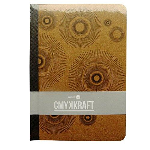 A6 Fall gebunden Qualität Notizbuch - CMYK-KRAFT-Spiralen - 160 Seiten - Liniert - Größe 148mm x 105mm