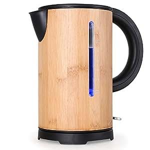 Klarstein Bamboo Garden-Wasserkocher in Japan style Zen für Tee, Kaffee, klein, (2000W Lunchbox, 1,7 l, schnelles Erhitzen, Bambus