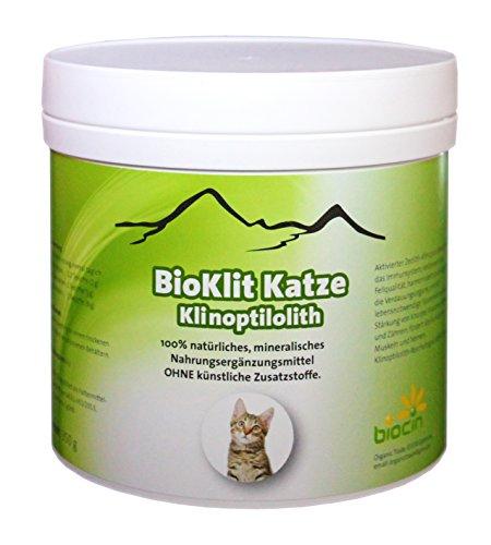 BioKlit Katze | Klinoptilolith - Zeolith, 350g | gutes Aussehen + Ausgeglichenheit + Dynamik | Detox Potential
