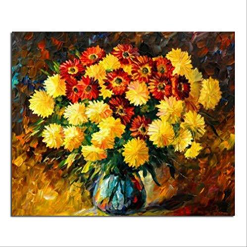 xxl-522 crisantemi fioritura 50x60 fai da te trapano piazza strass incollato pittura a punto croce artigianato cucito disegno diamante 50x60 cm