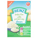 Heinz Baby Rice with Garden Veg Dinners for 4 Plus Months, 125g