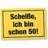 DankeDir! Ich Bin Schon 50 Jahre - PVC Schild - Geschenk Zum 50. Geburtstag Bester Freund/Freundin, Geschenkidee Geburtstagsgeschenk Zum 50ten Geschenk 50er Geburtstagsparty