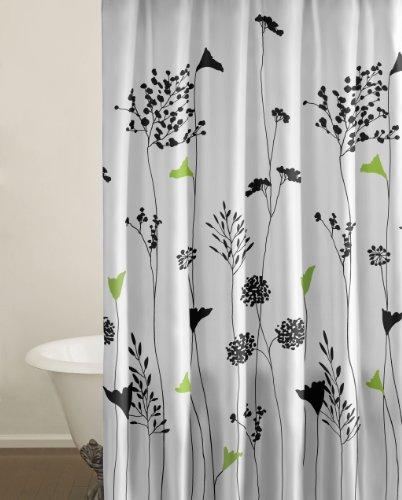 Perry Ellis asiatischen Lily Baumwolle Tröster Set, baumwolle, Asian Lily, Shower Curtain (Set Asiatischen Tröster)