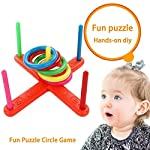 Wood.L Ring Toss Throwing Game Children Kids Training Toys Quoits Set Outdoor Toys Garden Games Family Fun Game Toy Educational Puzzle Toy Child Gift beautifully