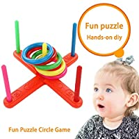 Ring Toss Throwing Game Children Kids Training Toys Quoits Set Outdoor Toys Garden Games Family Fun Game Toy Educational Puzzle Toy Child Gift