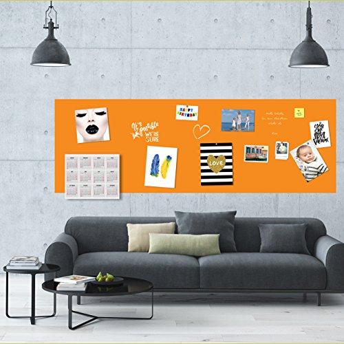 Möbelfolie selbstklebend magnetisch Tafelfolie Wandfolie Kreidetafel Wandtafel Kindertafel Schultafel Maltafel- in orange 3,00x1,00 Meter - Ideal zum malen