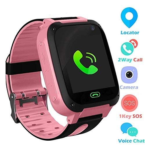 Global Trak Smart Watch Specially Designed for Kids - India's Smartest Wearable GPS Tracker Watch & Activity Tracker with 2 Way Calling, Voice Messages (Pink)
