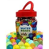 Perlas del agua, perlas del grano del gel del agua de cristal de 10 onzas (38000 perlas) para el llenador del florero, Spa Refill, juguetes sensoriales, decoración de colores y juego al aire libre