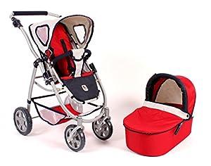 Bayer Chic 200063895-Carrito para muñecas Emotion 2en 1, Color Rojo