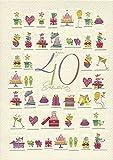 DeCoArt... 1 A5 Große Grüße Geburtstagskarte zum 40 Geburtstag 17x 23 cm mit Umschlag Turnowsky