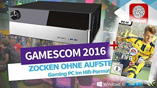 FIFA 17 OliWooD Wohnzimmer Hifi PC Multimedialer Gaming Bluray WLANac (Intel i7 4.0-4.4GHz, 16GB, 128GB SSD, 2000GB HDD, Geforce GTX 980, USB 3.0, Windows 10 Pro)
