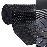 Bodenmatte aus Gummi - rutschfeste Gummiplatte | Geeignet als Garagenbodenmatte, Pferdestallmatte oder Werkbankmatte | Viele Größen zur Auswahl (1x1 m, Tränenblech - Stärke: 3mm)
