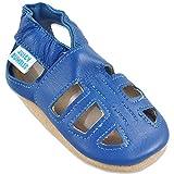 Baby Sandalen - Lauflernschuhe - Krabbelschuhe - Babyschuhe - Blaue T-Bar Sandalen 12-18 Monate (Größe 22/23)