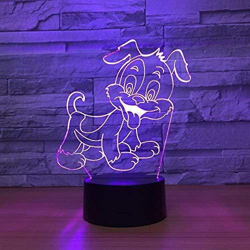 BFMBCHDJ Lampe 3D Beau Chien 7 Couleur Led Lampes De Nuit Pour Enfants Tactile Led Usb Table Lampara Lampe Bébé Veilleuse Veilleuse