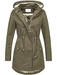 972655a8cdb3c5 Leichte Damen Jacke Übergangsjacke mit Kapuze Mantel Parka Baumwolle S-XL  B495