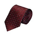 #10: Navaksha Maroon Color Square Design Micro Fiber Neckties for Men
