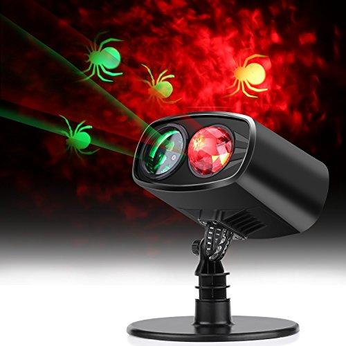 lahomie LED-Licht-Projektor, wasserdicht, für drinnen und draußen, Partylicht mit Spinnen-Projektion für Halloween, Weihnachten, Motto-Party
