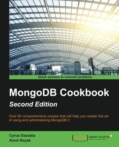 MongoDB Cookbook por Cyrus Dasadia