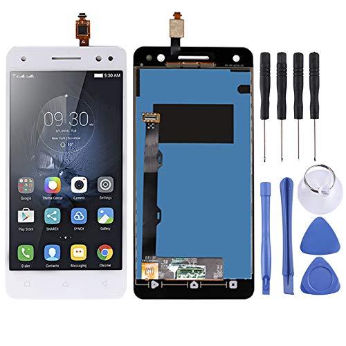 YCZLZ Display-Touch Screen für Lenovo Handy-Zubehör LCD-Bildschirm und Digitizer Vollversammlung for Lenovo Vibe S1 LITE S1LA40 (Schwarz) + Tools (Farbe : Weiß)