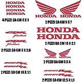 Pegatinas Stickers Honda CBR 600/1000,kit de 16 unidades en varios colores, tamaños personalizables, moto, color rojo