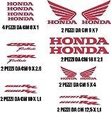 Kit Honda CBR 600/1000selbstklebende Aufkleber mit 16Stück verschiedene Farben, Größen, um Personalisieren Motorrad rot