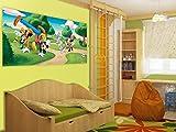 AG Design Mickey and Friends en disneylandia Poster Gigante