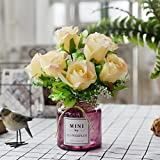 Unechte Blumen Der Neue Wohnzimmer Glas Vase Kleine, Frische Blumen Dekoration Tisch Simulation Package, Fe