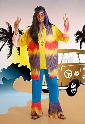 El Rey del Carnaval Kostüm Hippie Lila Kerl - Hombre, L
