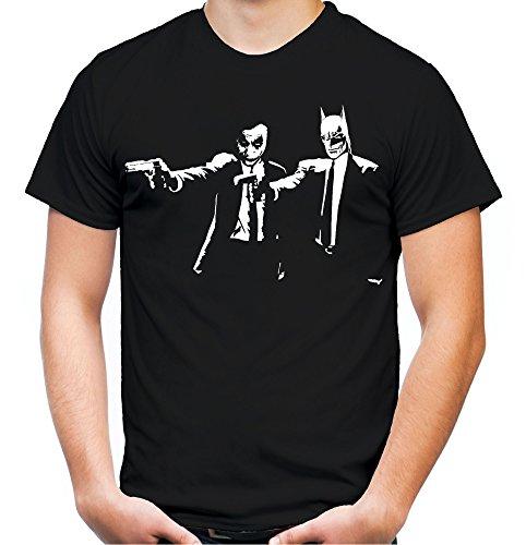 Pulp Fiction Joker & Batman Männer und Herren T-Shirt | Comic Joker Vintage Geschenk (L, ()