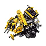 Bausteine gebraucht 1 x Lego Technic Set Modell Construction 42009 Mobile Crane Mk II Kran gelb Schwarz Technik Motor geprüft Incomplete unvollständig