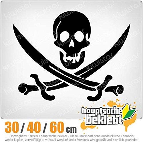Piraten Schädel - in 3 Größen erhältlich Heckscheibenaufkleber Carsticker Decal -