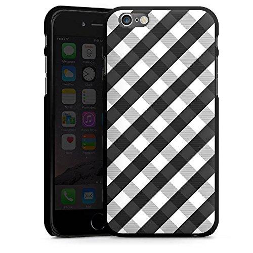 Apple iPhone 5s Housse Étui Protection Coque Carreau Style Noir et blanc CasDur noir