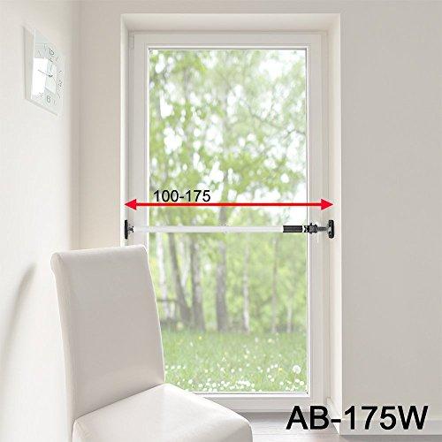 ALLEGRA Sicherungsstange für die Fenstersicherung und Türsicherung, Einbruchschutz für Fenster und Türen (1m - 1,75m, Weiß)