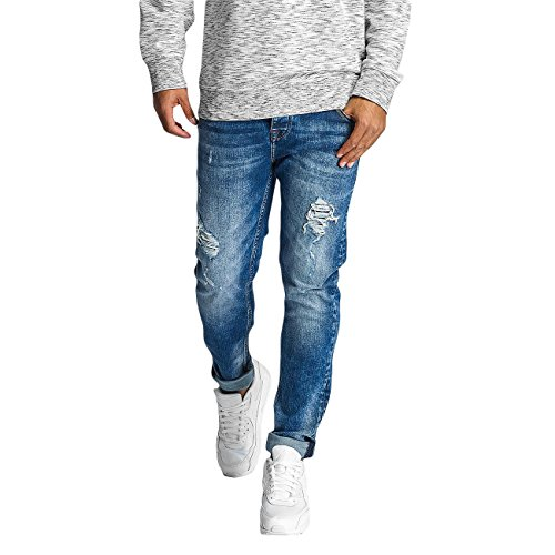 DEF Homme Jeans / Jeans Straight Fit Lynel Bleu